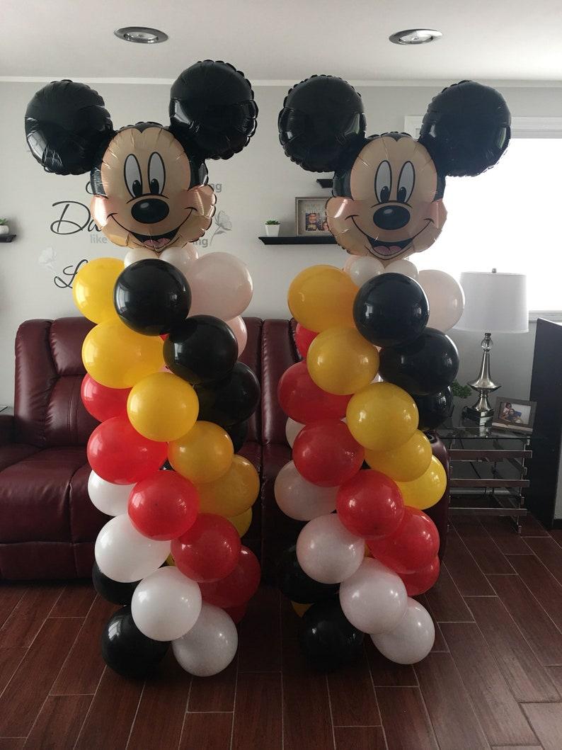 Mickey Mouse Birthday Balloons Mickey Party Decorations Diy Etsy