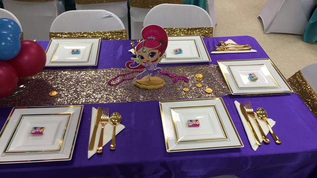 Shimmer And Shine Party Centerpieces Birthday Favors Decorations