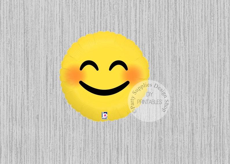 FAST SHIP 18inch Emoji Smiley Balloons Birthday
