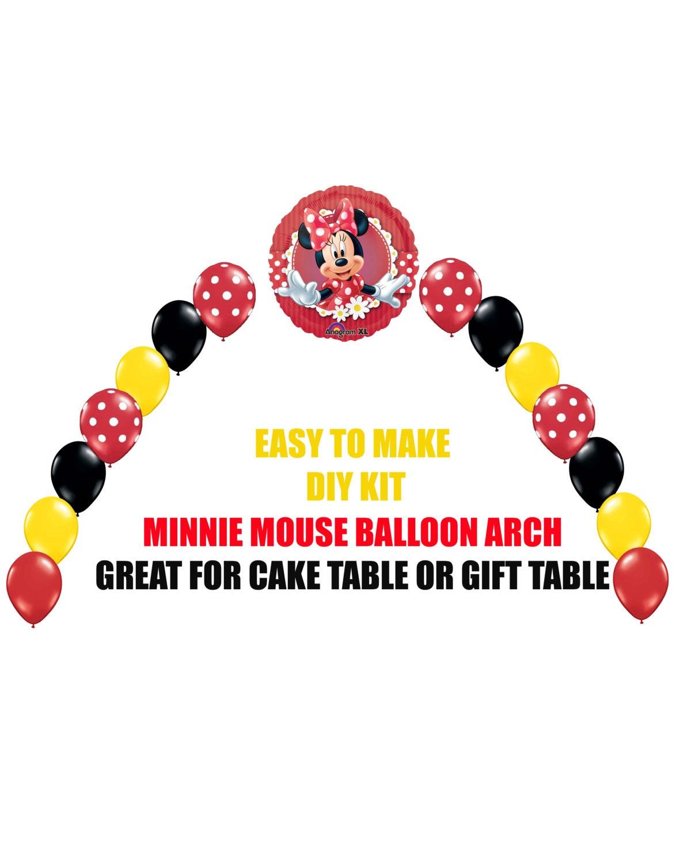 Rojo Minnie Mouse cumpleaños globos Minnie fiesta decoración