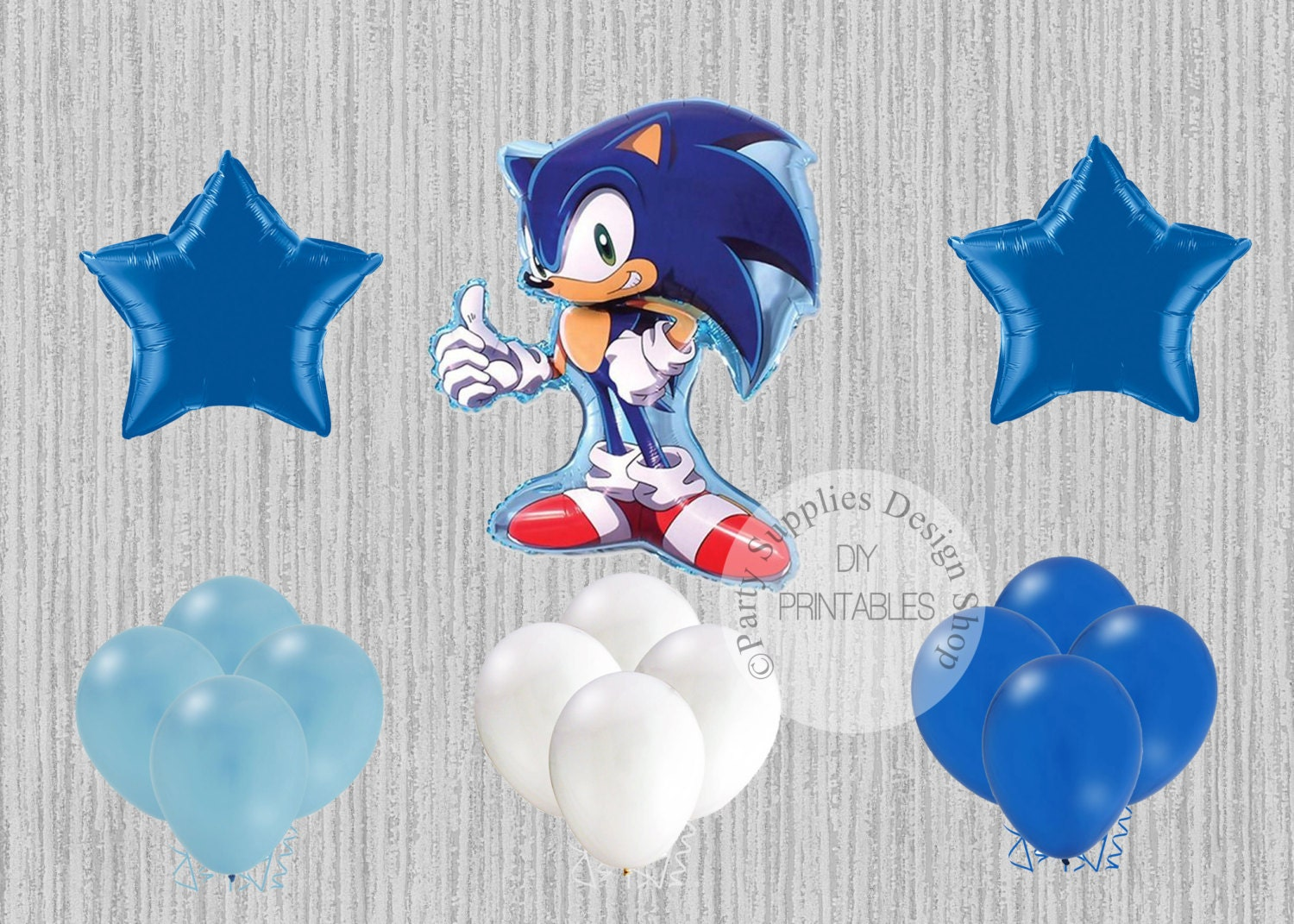 Fast Ship Sonic The Hedgehog Super Shape Balloons Sega Birthday Balloons Sonic Hedgehog Mylar Balloons Sonic The Hedgehog Party Balloons