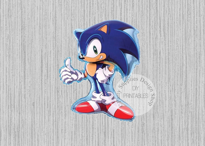 Sonic the Hedgehog Super Shape Balloons Sega Birthday   Etsy