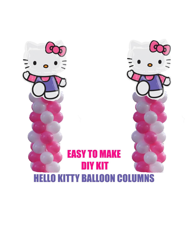 Hello Kitty Birthday Balloons Hello Kitty Party Decorations Etsy