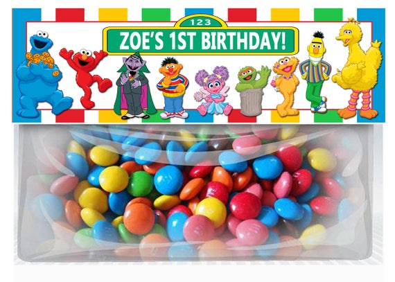 sesame street birthday goodie bag toppers elmo personalized etsy