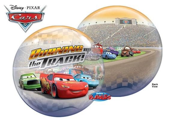 "Disney Pixar Cars Happy Birthday Bubble Foil Balloon 22/"""