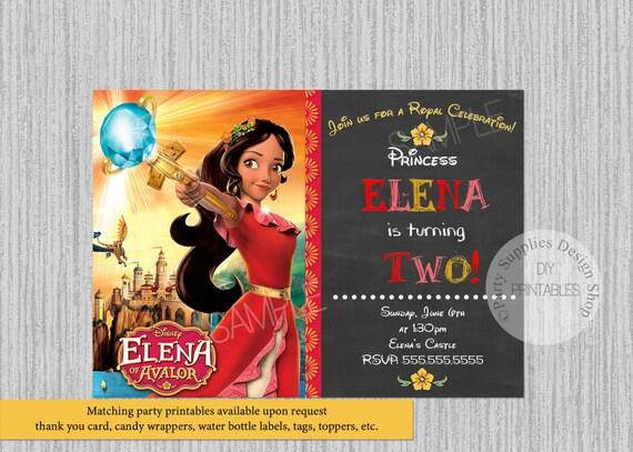 Disney Princess Elena Of Avalor Birthday Invitations