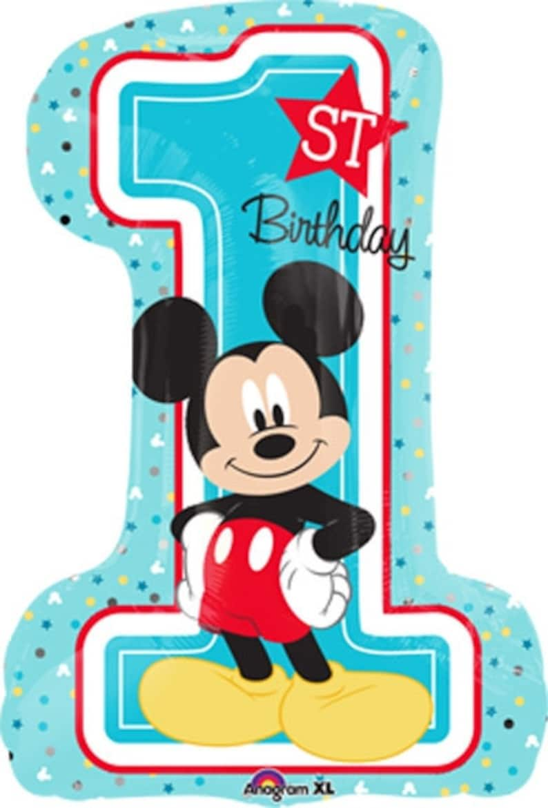 FAST SHIP Mickey Mouse 1st Birthday Balloons New Party