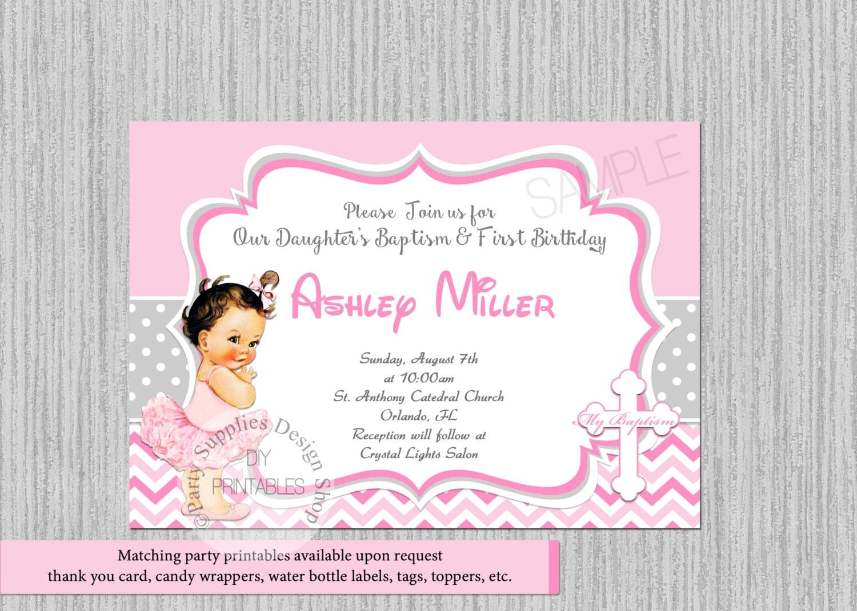 Ballerina Birthday Invitations Tutu Ballerina Baptism | Etsy