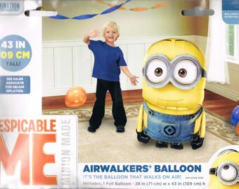 "HUGE 46"" Despicable Me MINIONS Airwalker Jumbo Birthday Balloon, Minions Party Balloons, Minions Birthday Decorations, Minions Supplies"