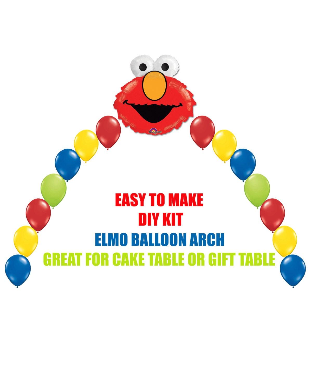 Elmo Birthday Balloons Elmo Party Decorations Cake Table Gift Etsy