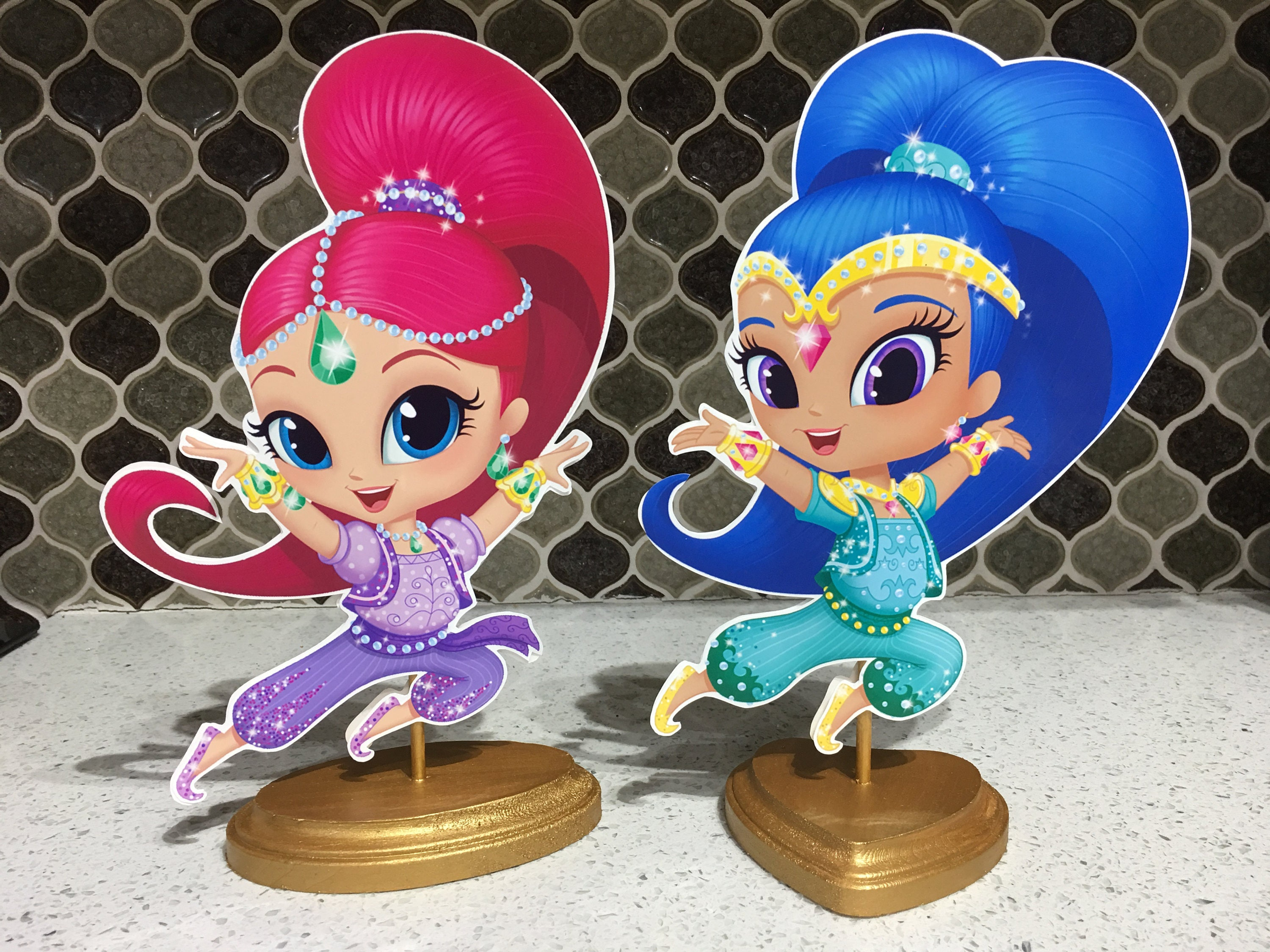 Shimmer And Shine Birthday Party Centerpieces