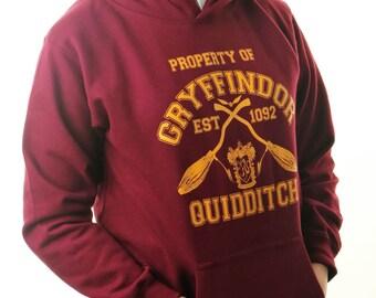 HARRY POTTER KID'S Hoodie Inspired Gryffindor Quidditch Team Jumper Childrens Hoody Jumper