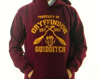 HARRY POTTER HOODIE Inspired Gryffindor Quidditch Team Jumper Adults Hoody Jumper