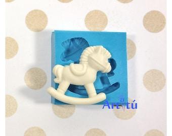 Rocking Horse Silicone Mold Trojan Horse Mold Desing #2 NCSM0232