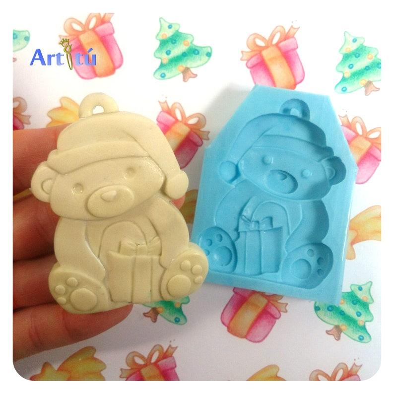 Santa silicone mold Christmas mold or diy Christmas ornaments image 0
