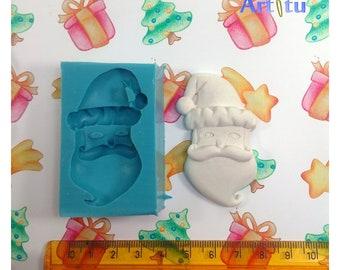 Santa silicone mold christmas, Santa Claus mold