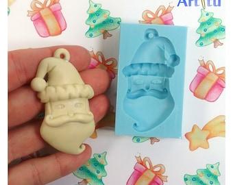 Silicone mold Christmas Santa mold for Christmas ornaments