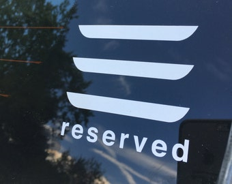 Tesla Model 3 Reserved vinyl car decal window sticker