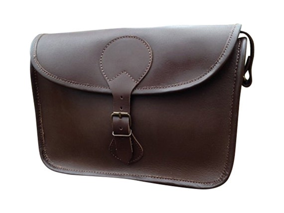 Hand Made Real Leather Cartridge Bag Satchel Shooting With