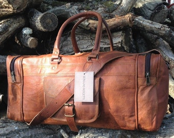 FREE 48hr DEL TO U.S.A  Leather Weekender, Duffle Bag, Leather Weekend Bag, Leather Holdall, Overnight Bag, Vacation Duffel, Carry on Bag