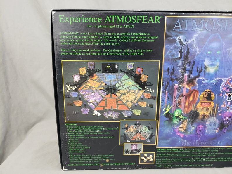 VHS Video Board Game Atmosphere The Harbingers Complete