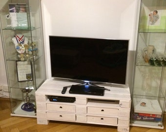 Sideboard Lowboard Palettenmobel Tv Furniture Bari Etsy