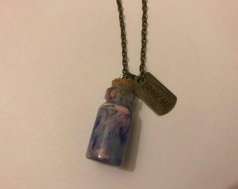 "Bronze ""Drink Me"" Cork Bottle Necklace"