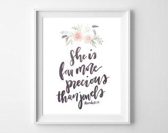 Proverbs 31 Art Print