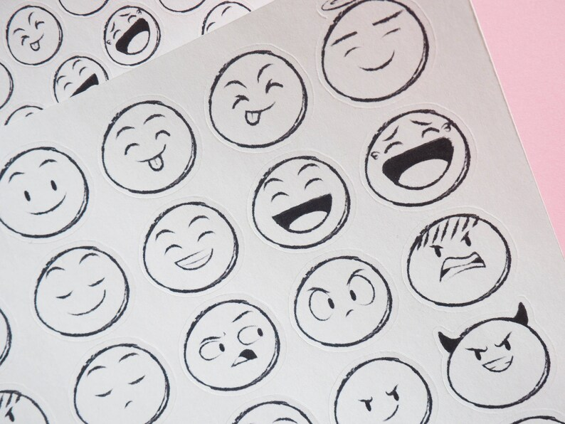Stickers Emoticon Emoji Smiley Stickers Collection Planner Stickers For Kikki K Erin Condren Filofax Or Any Planner