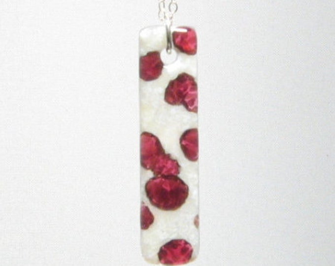 Cranberry and Snow Pendant