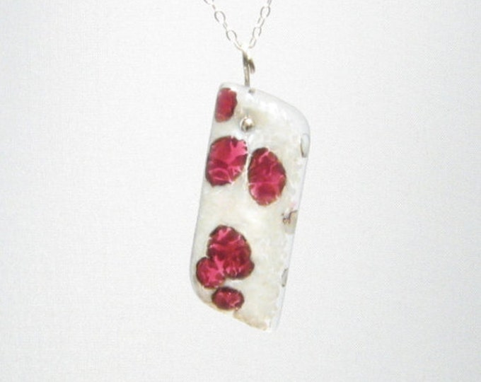 Cranberry Asymetrical Snow Pendant