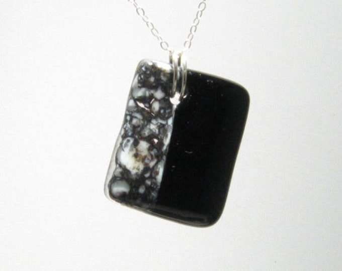Black and Marble Organic Pendant
