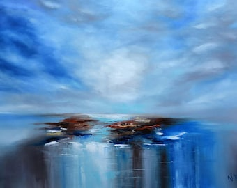 Calm - original abstract seascape painting