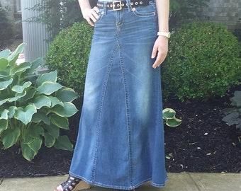 4445e362fe Basic Long Modest Jean Skirt-Made To Order
