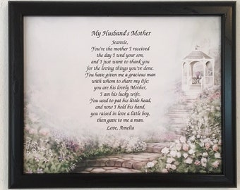 Mother In Law Gifts Mothers Day Gift For Frame Included Birthday Personalized From Daughter