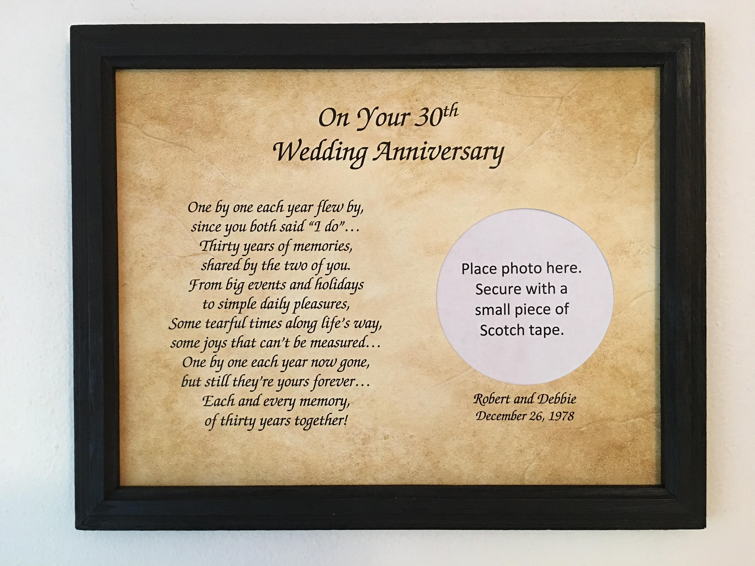 Wedding Anniversary Gifts 30 Years: 30 Year Anniversary 30th Anniversary Gift 30th Wedding