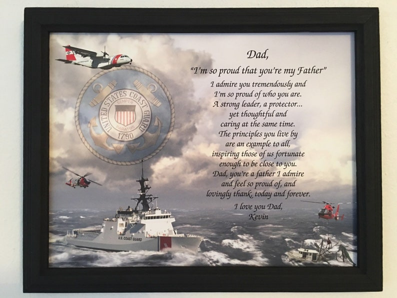 Coast Guard Gifts Fathers Day Gifts Birthday Gift For Dad