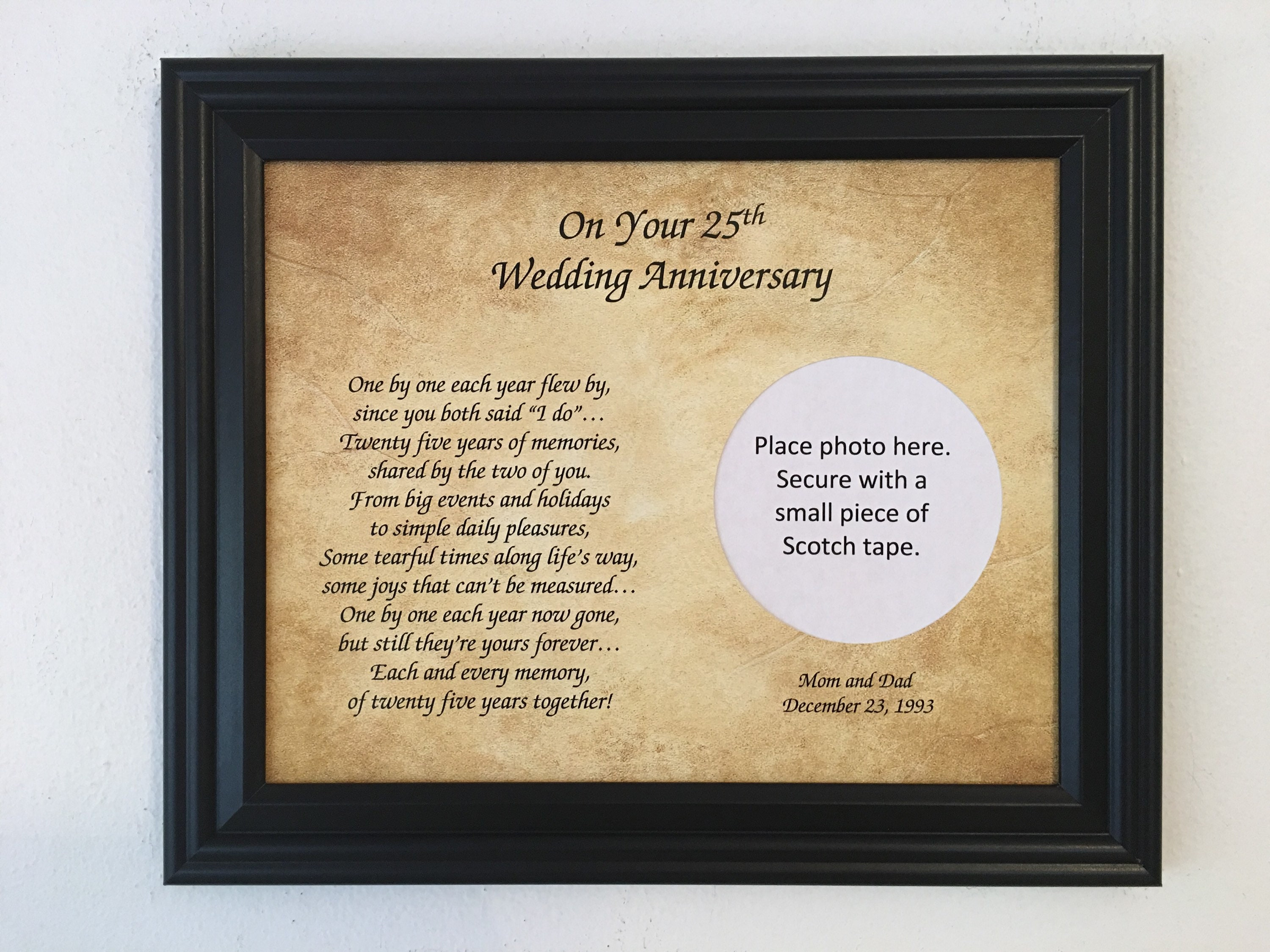 What Is The 25th Wedding Anniversary Gift: 25 Year Anniversary 25th Anniversary Gift 25th Wedding