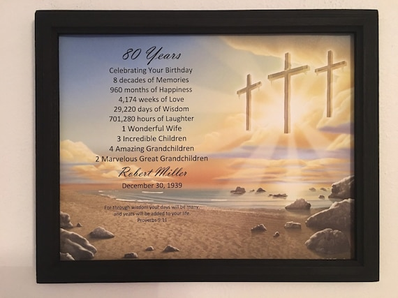 80th Birthday Gift Religious Gifts Born In 1939 Frame