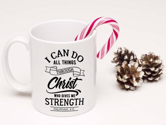 Bibel-Vers Christian Tasse Kaffee Becher Weihnachten | Etsy