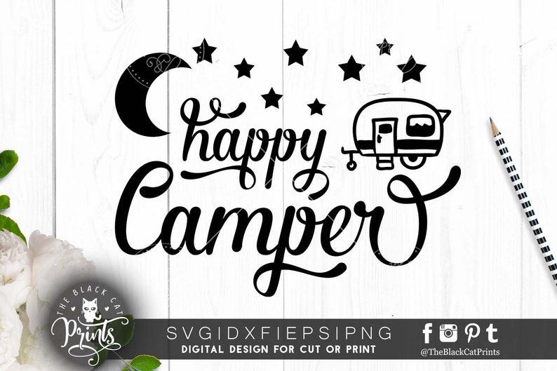 a64c4802f Happy Camper SVG file for Cricut Svg Summer Svg cutting file | Etsy
