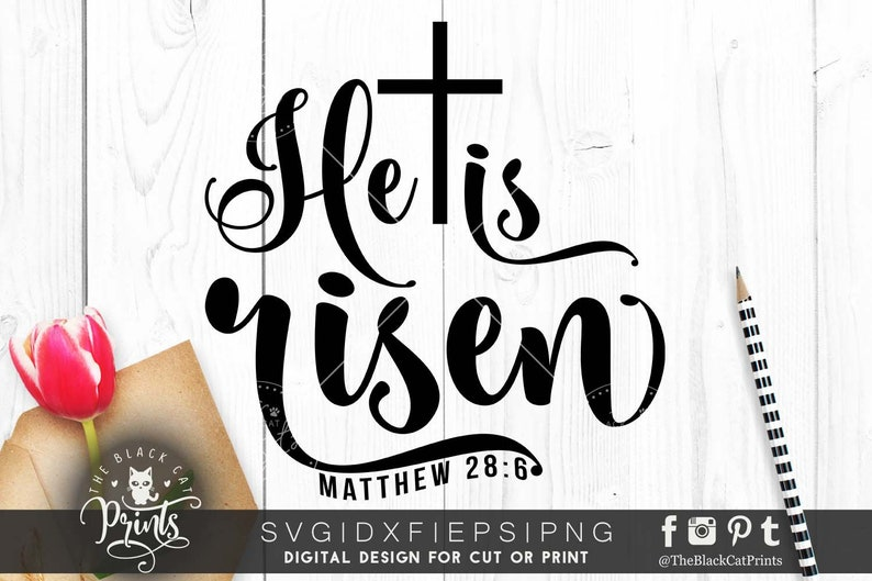 He is risen svg cutting file Bible verse svg file Easter svg cut file  Cricut svg files Easter gift svg quote file download Matthew 28:6