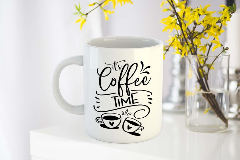 Download It's coffee time svg file for cut Coffee lover svg cutting ...