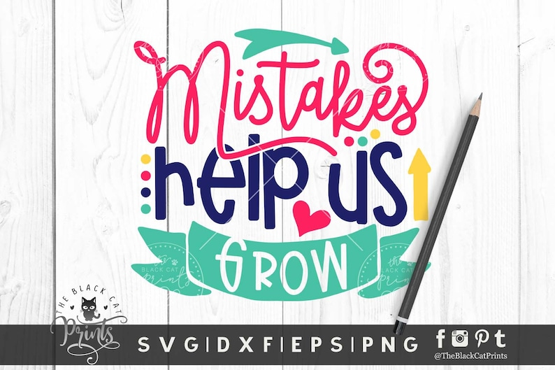 Mistakes Help Us Grow svg cutting file Back to school svg image 0