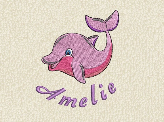9f5d8c34 Towel dolphin and name