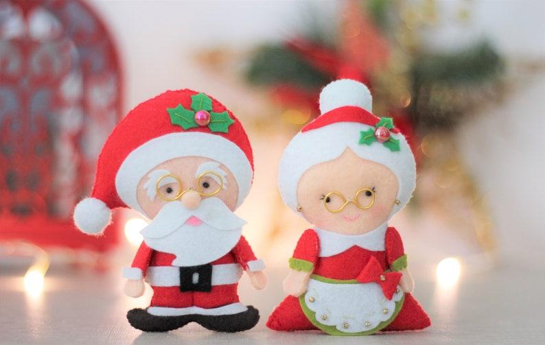 Christmas ornaments tree gingerbread men felt Ornament decor reindeer decoration noel decoration Penguin felt reindeer decor santa claus