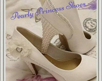 5304f4a5d6e White-ivory hand designed wedding shoes