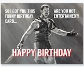 GLADIATOR birthday card -...