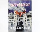 SUPERHERO birthday card -...