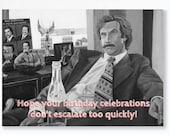 ANCHORMAN birthday card -...